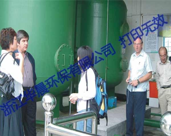 国外客户考察一体化净水器